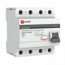 Устройство защитного отключения УЗО ВД-100 4Р 25А/30мА (электромеханическое) EKF PROxima