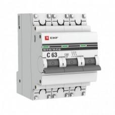 Авт.выключатель 3П 32А (С) 4,5кА ВА 47-63 EKF PROxima