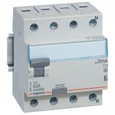 Выключатель дифференциального тока Legrand ТХЗ 4П 63А 30МА -АС (403010)