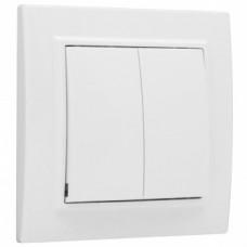 Минск Выключатель 2 -клавишный СП 10А белый EKF Basic