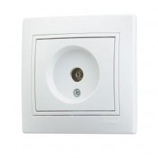 701-0202-130 Мира Розетка ТВ оконечная белый с белой вставкой