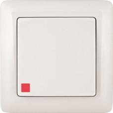 Выключатель С/У белый  1 кл. с инд. Wessen