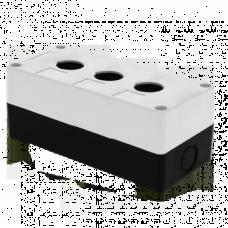 Корпус КП103 пластиковый 3 кнопки белый EKF PROxima CPB-103-W