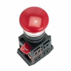 Кнопка AEAL-22 красная с фиксацией NO+NC грибок EKF PROxima PBN-AEAL-R