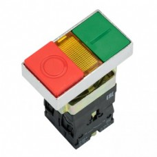 """Кнопка LAY5-BW8465 """"I-O"""" прямоугольная 230В NO+NC PROxima"""