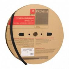 Термоусаживаемая трубка ТУТ 10/5 черная рулон EKF PROxima