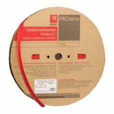 Термоусаживаемая трубка ТУТ 20/10 красная рулон EKF PROxima