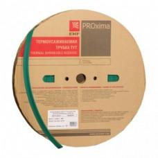 Термоусаживаемая трубка ТУТ 20/10 зеленая рулон EKF PROxima