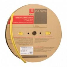 Термоусаживаемая трубка ТУТ 20/10 желтая рулон EKF PROxima