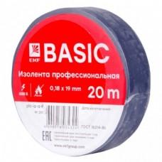 Изолента класс А (профессиональная) (0,18х19мм) (20м.) синяя EKF PROxima