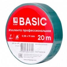 Изолента класс А (профессиональная) (0,18х19мм) (20м.) зеленая EKF PROxima