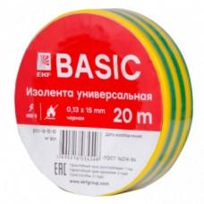Изолента класс А (профессиональная) (0,13х15мм) (20м.) желтая-зеленая EKF PROxima