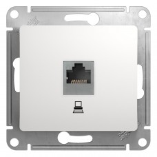 Розетка комп RJ45 кат. 5е. белая GSL000181К