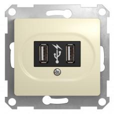 Розетка USB бежевая GSL000232