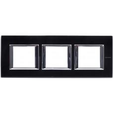 Axolute Рамка 2х3мод.  прямоугол. горизонт. 71мм черн. стекло   HA4802M3HVNN