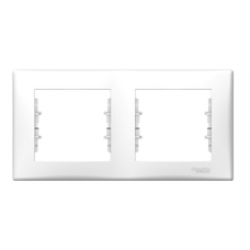 Рамка 2-постовая горизонтальная  белая GSL000102