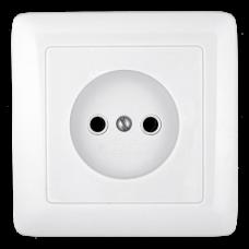 Розетка скрытой установки б/з без шторок  белая Wessen (RS10-132-B)