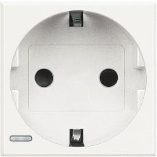 Axolute Розетка 16А 2К+3 с боковыми зазем. конт.  HD4141W