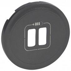 Celiane Накл.Р.2*USB заряд.графит  067956