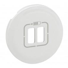 Celiane панель лицевая USB розетка бел 068256