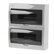 Бокс с прозрачной крышкой LUXRAY ЩРН-П-24 для внт.уст. 24-модульных устройств LX731-2000-024