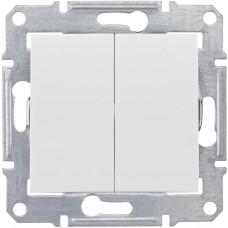 Переключатель белый 2кл. Sedna SDN0600121