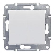 Выключатель сх5. белый 2кл. Sedna (SDN0300121)