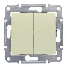 Выключатель сх5. бежевый 2кл. Sedna SDN0300147