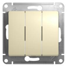 Выключатель 3кл. бежевый GSL000231