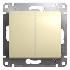 Выключатель 2кл. бежевый GSL000251