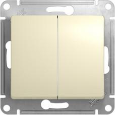 Выключатель бежевый 2кл. GSL000265